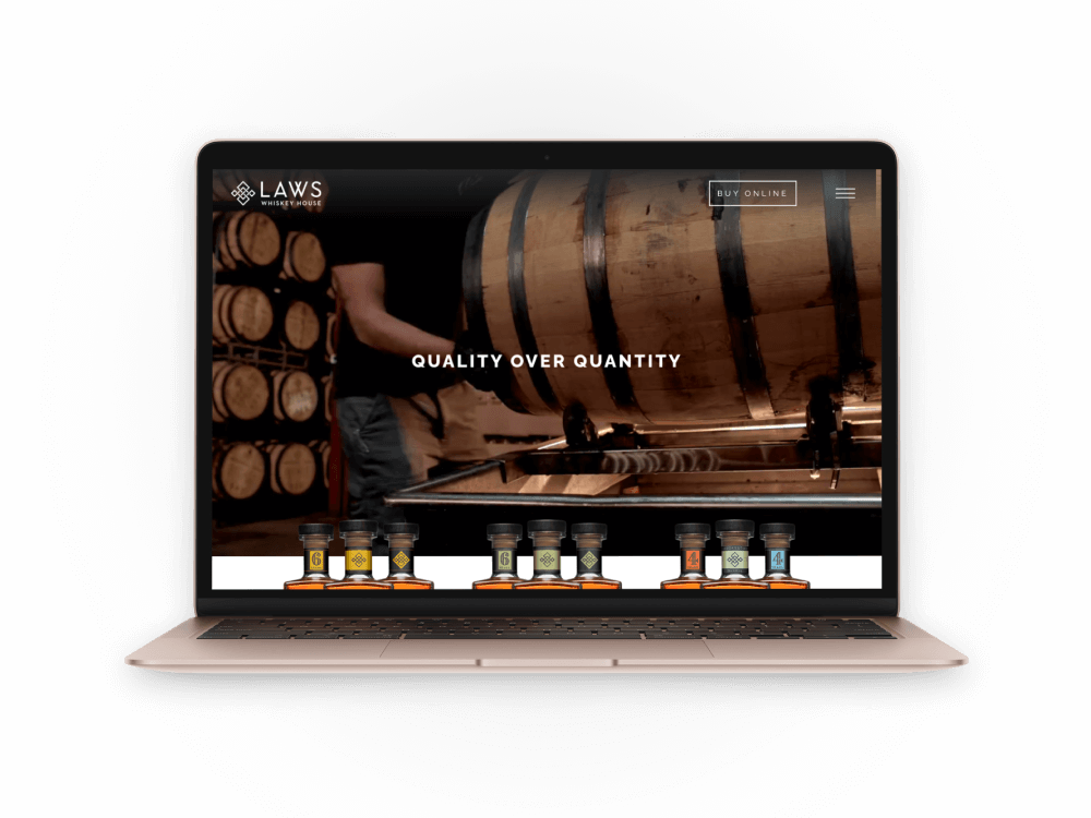 Laws Whiskey House website screenshot