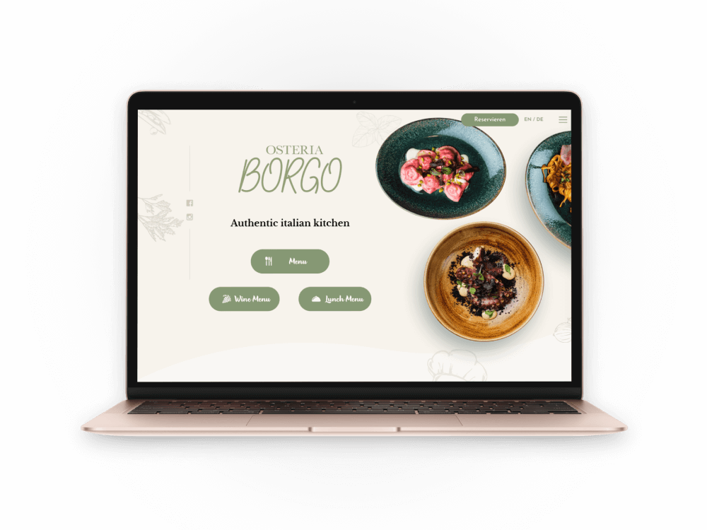 Osteria Borgo website screenshot